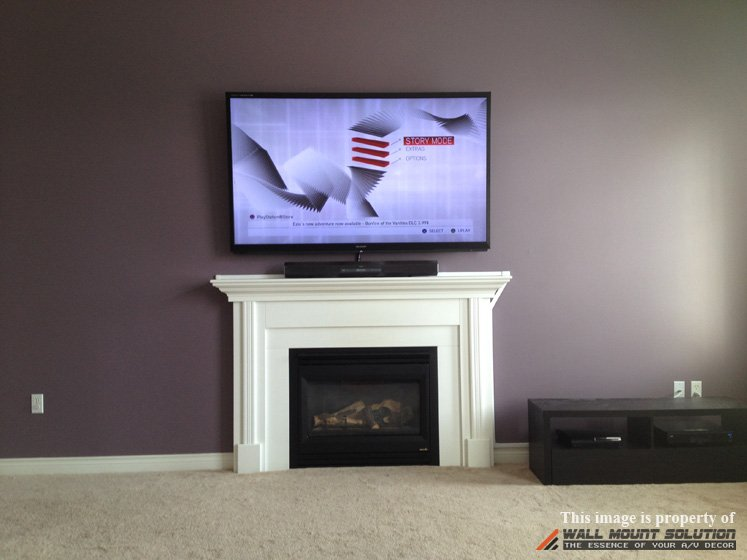 tv wall mount installation with wire concealment over fireplace rh blog wallmountsolution com Flat Screen TV Over Fireplace wiring tv over brick fireplace