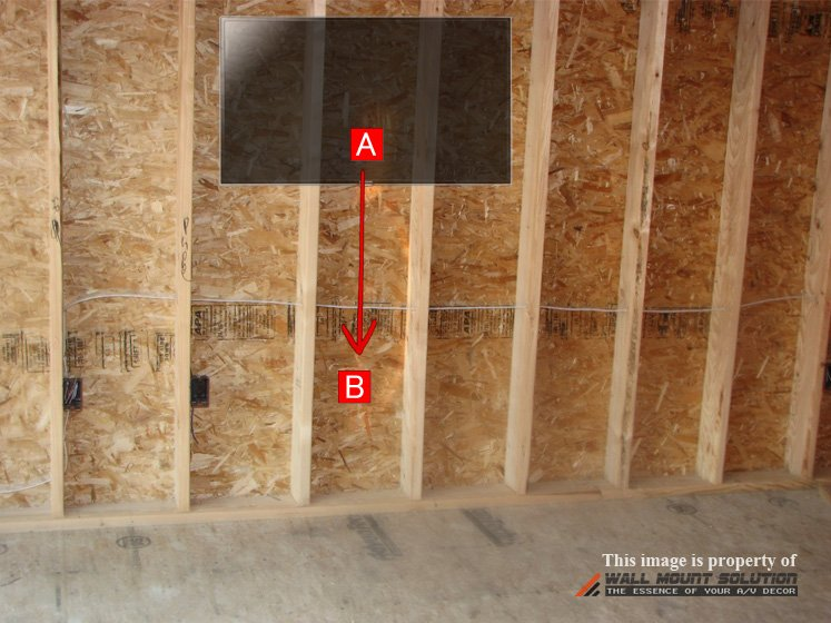 Vertical Wire Concealment Drawing